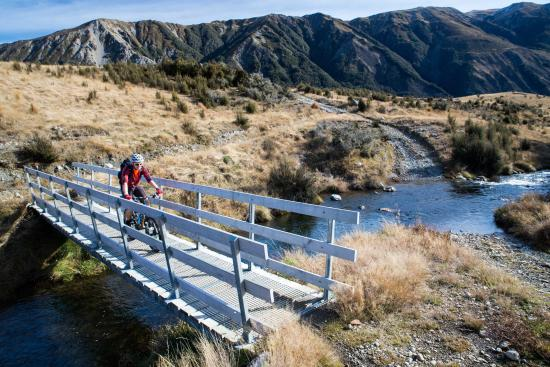 Canterbury Region, New Zealand: Biking the St James