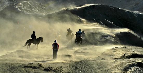 ‪إندونيسيا: Horse ridining in Mt. Bromo, East Java, Wonderful Indonesia‬