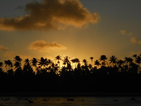 Islas de la Sociedad, Polinesia Francesa: lever de soleil sur Tetiaroa