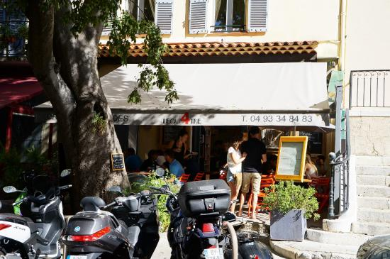 Le quatre cafe: From Across The Street