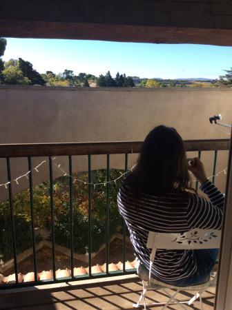 La Redorte, Francia: Balcony coffee