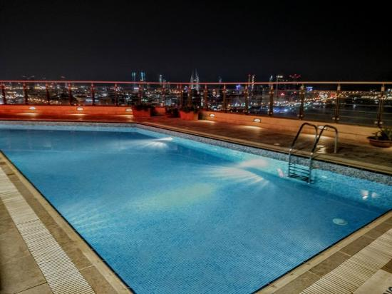 View Of The Manama Skyline From The Rooftop Pool Picture Of