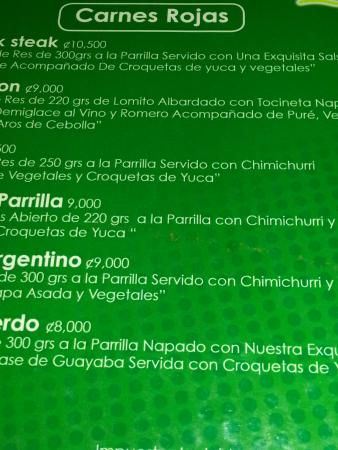Hotel Monte Campana: menu 2015