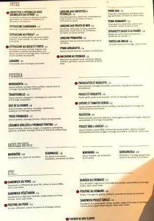 Vinnie Gambini Restaurant Menu