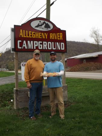 Allegheny River Campground : Father & Son trout catch