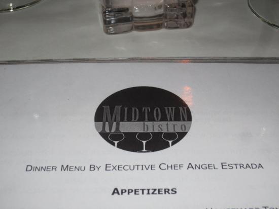 Midtown Bistro: fantastic menu!