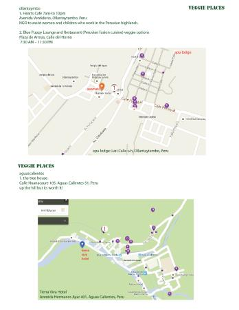 Aguas Calientes Peru Map.Vegan Vegetarian List Of Restaurant Options Ollantaymbo