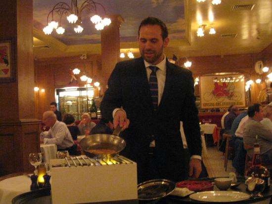 crepe suzette prepared table-side