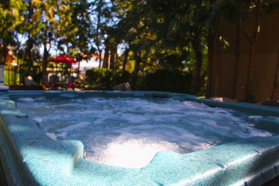 Boyce-Gyro Beach B&B: hot tub for relaxing in