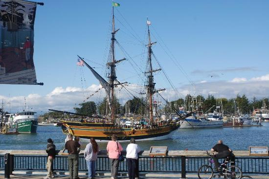 Historic Tall Ships are a regular site along the waterfront in Eureka's Humboldt Bay. Richard St