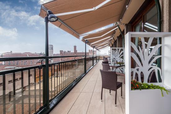 terrazza ristorante - Picture of Grande Albergo Roma, Piacenza ...