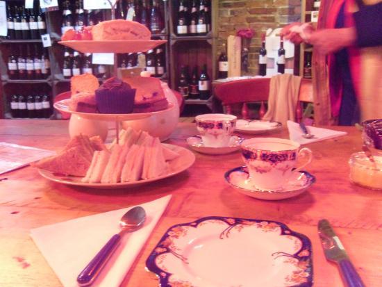 Cream tea at Sedlescombe Organic Vineyard