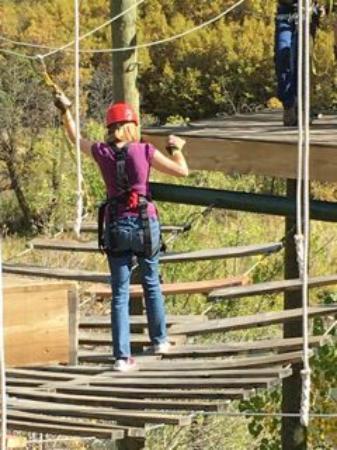 Glenwood Canyon Zipline Adventures : Bridge of Doom