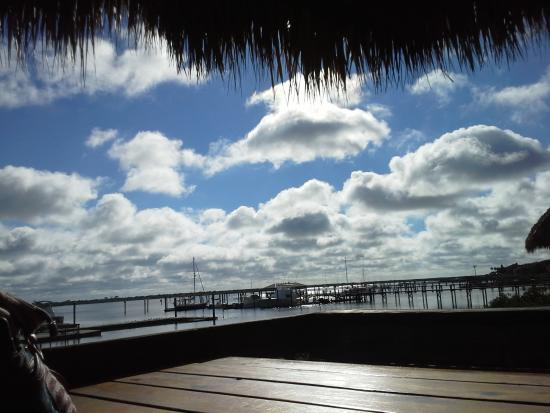 The Conch House Restaurant: Our view while eating breakfast! Yummy and ...