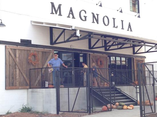 Magnolia market front entrance of magnolia