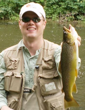 River Falls, WI: Brown Trout from the Lower Kinni canyon!