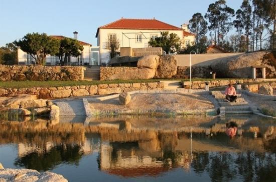 Quinta Vale Porcacho: Vanaf de achterkant van het zwembad richting het huis