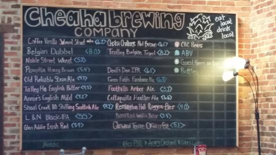 Anniston, AL: Lots of choices for the beer conniseur at Cheats Brewing Company