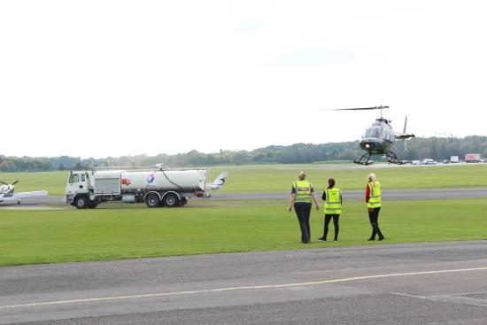 Helicopter joy-flights at North Weald airfield