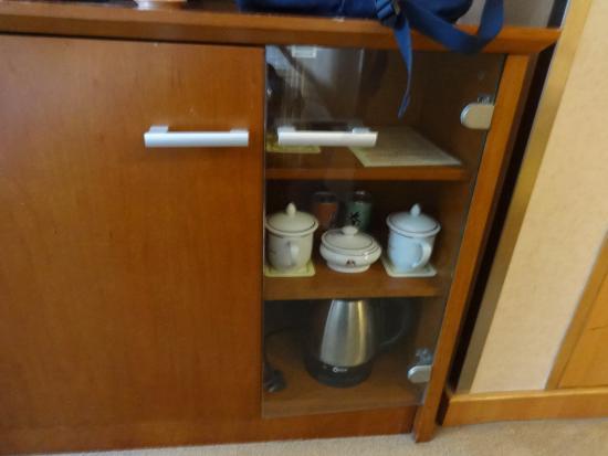 Swan Hotel: Příslušenství pro čaj na pokoji
