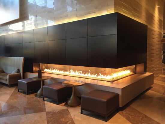 Fireplace in lobby - Picture of Omni Dallas Hotel, Dallas ...