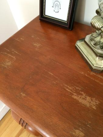 Norfolk, CT: Bedside table with the finish damaged