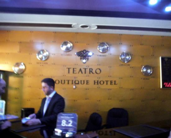 Teatro Boutique Hotel: reception