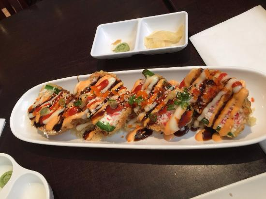 Miyagi's Sushi: Baked and stuffed Jalapenos with crab