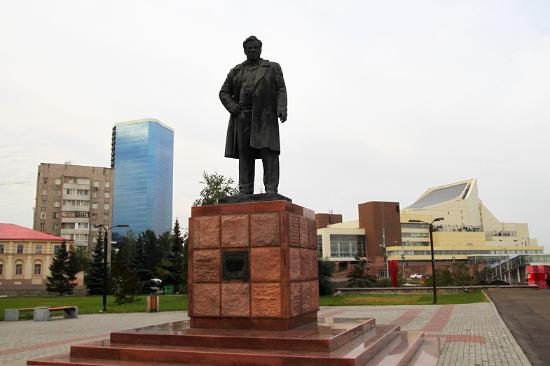 V.P. Astafyev Monument