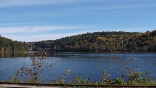 Wakefield, Canada: view from the terrace of the inn
