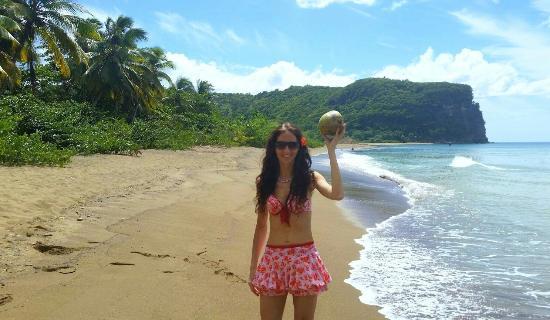 Anse La Raye, St. Lucia: Roseau Beach