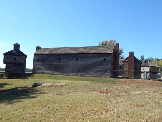 Fort Massac State Park: Look closely to see the chain link fence