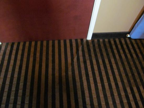 Mountain Inn & Suites: raised carpet, making the door difficult to open and shut