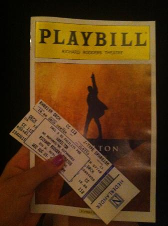 playbill de hamilton   picture of hamilton   an american