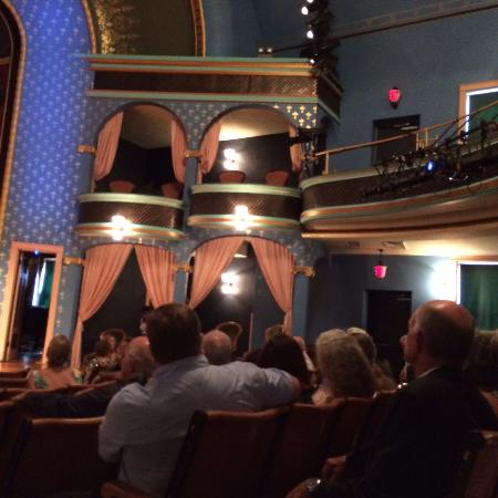 Stoughton Opera House: partial view of balcony