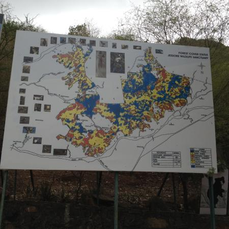 Map of the Jessore Sloath Bear Sanctuary Picture of Jessore Sloth