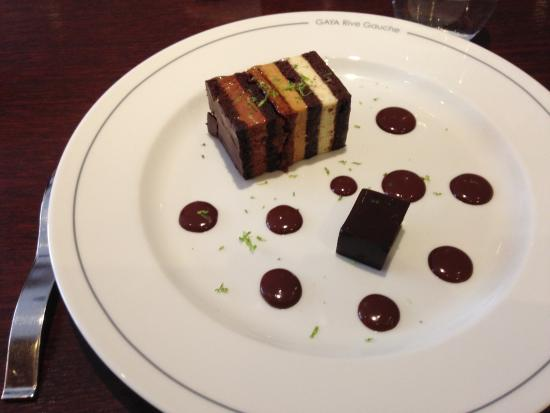 dessert au chocolat et citron vert picture of gaya tripadvisor
