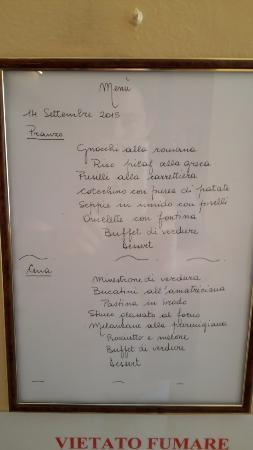 Il menu - Picture of Park Hotel Fantoni, Tabiano - TripAdvisor