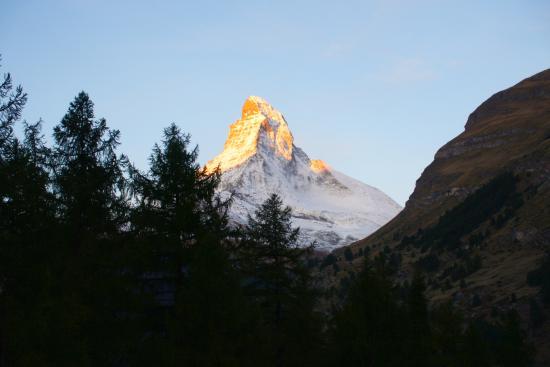 CERVO Zermatt: Photo taken from our balcony at sunrise