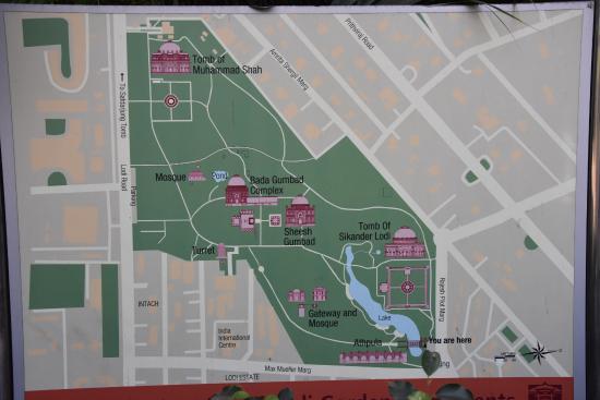 Map of the park Picture of Lodhi Garden New Delhi TripAdvisor
