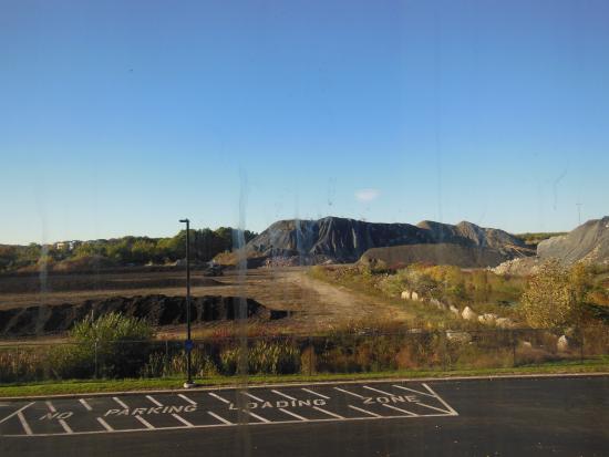Smithfield, RI: View of slagheap