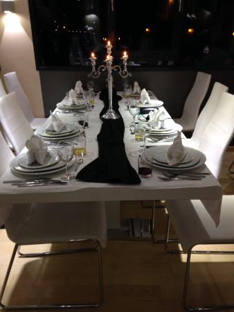 Adriatic Coast Captains Dinner Table Setting For The Four Course Meal