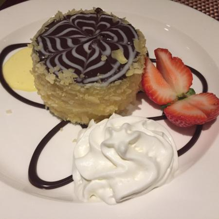 Parker's Restaurant: The Boston creme pie. I wish it was fresher--this one was made much earlier and had lost its fre