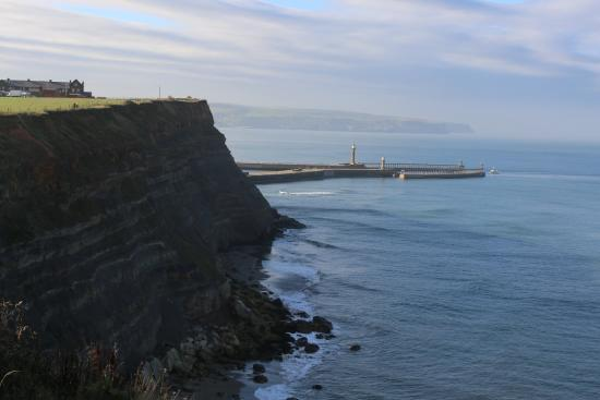 North York Moors National Park, UK: towards Whitby harbour