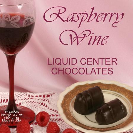 Raspberry Wine Filled Chocolates
