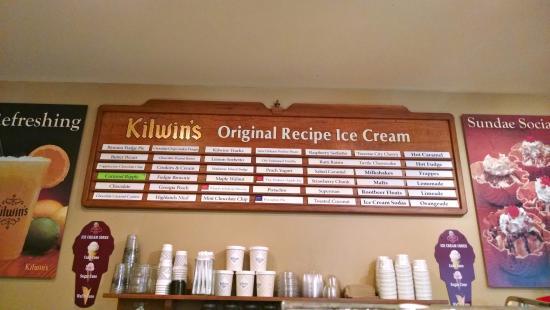 Kilwin's Chocolates and Ice Cream: Kilwin's ice cream selections
