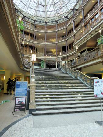 Old Arcade: Cleveland Arcade (Hyatt)   Euclid Stairs, With Affordable  Eating Places