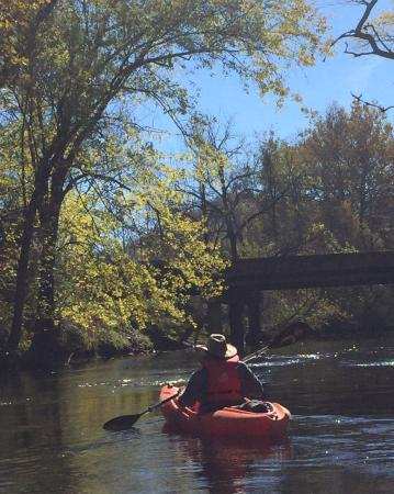 Rosman, Carolina del Norte: Gorgeous 8 mile paddle on the Broad River  Headwaters outfitters could not have been better
