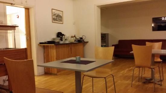 Enter Backpack Hotel: Dinning/lounge area