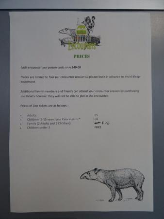 Reaseheath Zoo: Admission prices